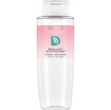 Dermika Clean&More – Regulujący płyn micelarny cykoria + niacynamid każdy typ cery (400 ml)