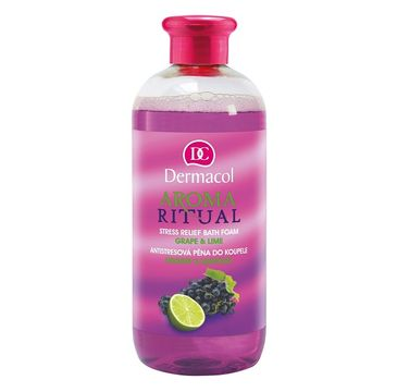 Dermacol Aroma Ritual Stress Relief Bath Foam pianka do kąpieli Grape & Lime 500ml