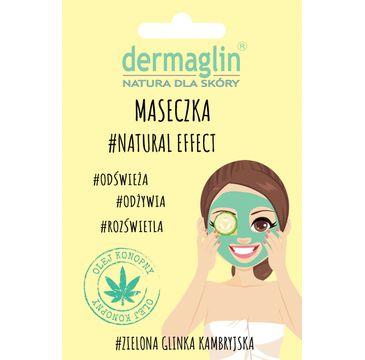 Dermaglin – maseczka do twarzy Natural Effect Zielona glinka kambryjska + olej konopny + ogórek (20 g)