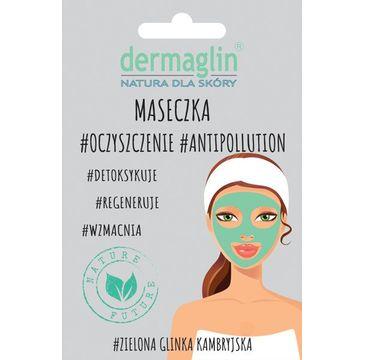 Dermaglin – maseczka do twarzy oczyszczająca zielona glinka + węgiel aktywny (20 g)
