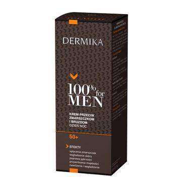 Dermika 100% for Men krem 50+ przeciw zmarszczkom i bruzdom na dzień i noc 50 ml
