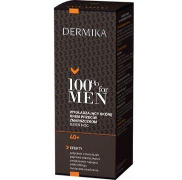 Dermika 100% for Men krem do twarzy 40+ wygładzający na dzień i noc 50 ml
