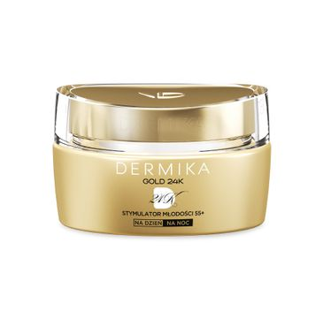 Dermika Gold 24k Total Benefit 55+ krem-stymulator młodości na dzień i noc  50 ml