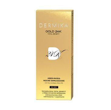 Dermika Gold 24K Total Benefit krem-maska nocne odmładzanie (50 ml)
