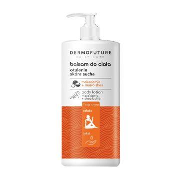 DermoFuture – Daily Care Balsam do ciała Otulenie z olejem makadamia i masłem shea do skóry suchej (480 ml)