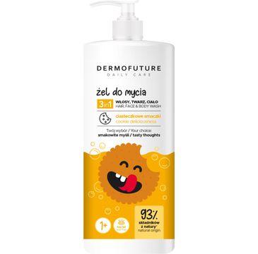 Dermofuture Daily Care Kids Żel 3in1 do mycia twarzy, ciała i włosów Ciasteczkowe Smaki (500 ml)