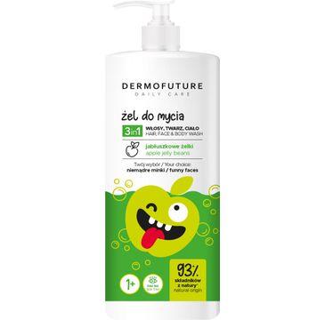 Dermofuture Daily Care Kids Żel 3in1 do mycia twarzy,ciała i włosów Jabłkowe Żelki (500 ml)