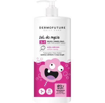 Dermofuture Daily Care Kids Żel 3in1 do mycia twarzy, ciała i włosów Wata Cukrowa (500 ml)
