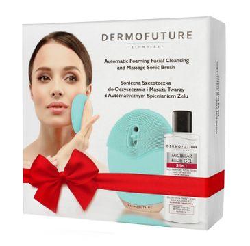 DermoFuture – Soniczna szczoteczka do twarzy zielona ze spieniaczem + żel GRATIS (1 szt.)