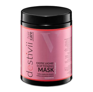 Destivii Softening Mask lekka maska do włosów nadająca jedwabistą miękkość Exotic Lychee (1000 ml)