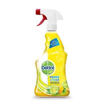 Dettol Power & Fresh wielofunkcyjny spray do powierzchni Limonka & Cytryna 500ml