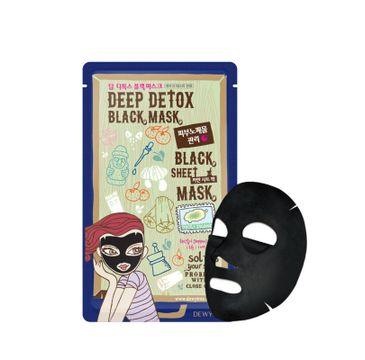 Dewytree Deep Detox Black Sheet Mask głęboko detoksykująca maska w płachcie z pyłem wulkanicznym (30 g)