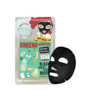 Dewytree Ginseng Nutritious Black Sheet Mask odżywcza maska w płachcie z żeń-szeniem (30 g)