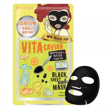 Dewytree Vita Caviar Black Sheet Mask witalizująca maska w płachcie z kawiorem (30 g)