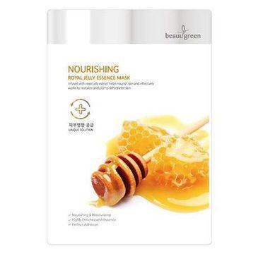 BeauuGreen Nourishing Royal Jelly Essence Mask – odżywcza maseczka do twarzy Mleczko Pszczele (23 g)