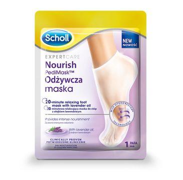 Scholl – Expert Care Nourish Pedi Mask odżywcza maska do stóp z olejkiem lawendowym (1 szt.)