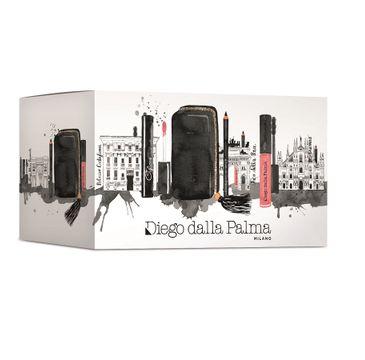 Diego Dalla Palma MakeUp Occhnii&Labbra zestaw Ciglione Lash Booster Mascara 11ml + Geisha Matt Liquid Lipstick 03 6.5ml + Eye Pencil 01 Black 1.1g + kosmetyczka