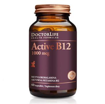 Doctor Life Active B12 aktywna witamina B12 1000mcg metylokobalamina aktywna witamina B12 suplement diety 60 kapsułek