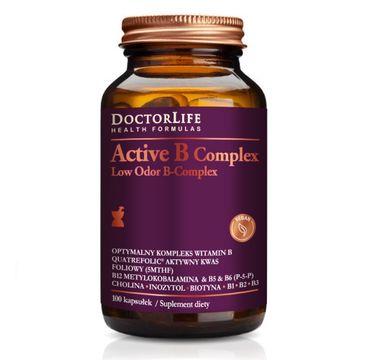Doctor Life Active B Complex Low Odor B-Complex optymalny kompleks witamin B suplement diety 100 kapsułek