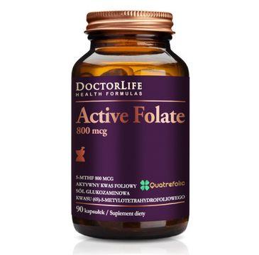Doctor Life Active Folate aktywny kwas foliowy 800mcg suplement diety 90 kapsułek