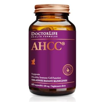 Doctor Life AHCC ekstrakt z grzybni Shiitake 630mg suplement diety 60 kapsułek