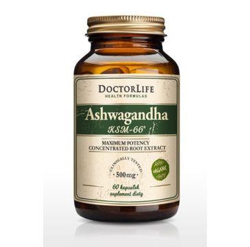 Doctor Life Ashwagandha KSM-66 ekstrakt z korzenia 500mg suplement diety 60 kapsułek