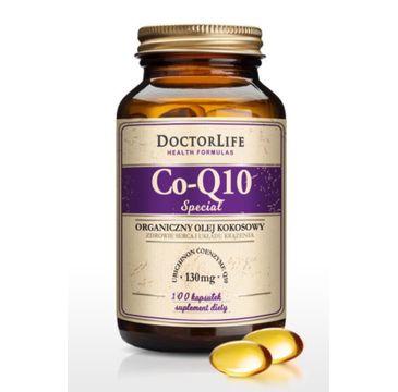 Doctor Life Co-Q10 Special organiczny olej kokosowy 130mg suplement diety 100 kapsułek