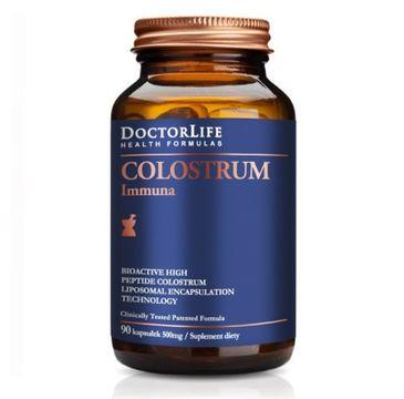Doctor Life Colostrum Immunab bio-aktywne kolostrum 500mg suplement diety 90 kapsułek