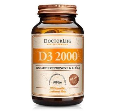 Doctor Life D3 2000 cholekalcyferol z lanoliny 2000iu suplement diety 250 kapsułek