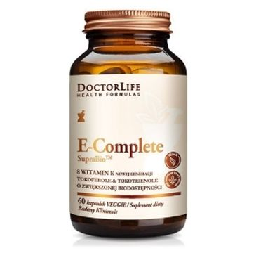 Doctor Life E-Complete SupraBio 8 witamin E nowej generacji suplement diety 60 kapsułek