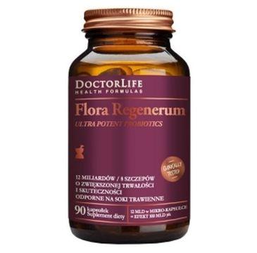 Doctor Life Flora Regenerum Ultra Potent Probiotics 12mld bakterii suplement diety 90 kapsułek