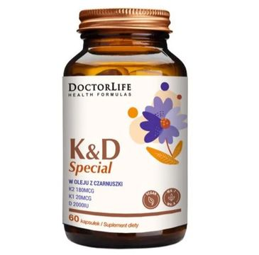 Doctor Life K&D Special w oleju z czarnuszki suplement diety (60 kapsułek)