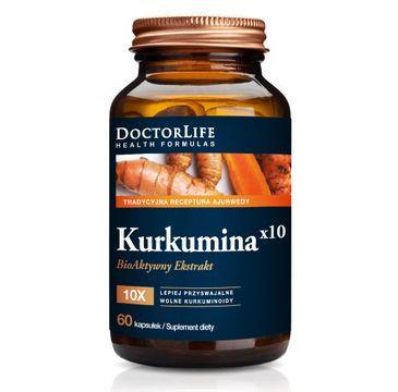 Doctor Life Kurkumina x10 bioaktywny ekstrakt 500mg suplement diety (60 kapsułek)