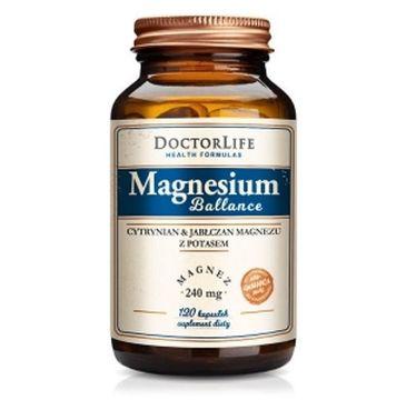 Doctor Life Magnesium Ballance cytrynian i jabłczan magnezu magnez 240mg suplement diety 120 kapsułek