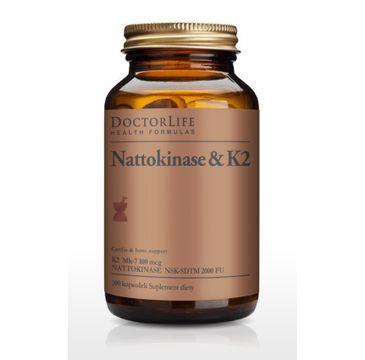 Doctor Life Nattokinase & K2 K2 Mk-7 100mg suplement diety 100 kapsułek
