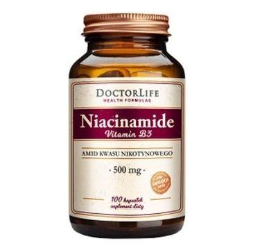 Doctor Life Niacinamide Vitamin B3 amid kwasu nikotynowego 500mg suplement diety 100 kapsułek