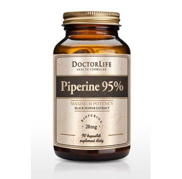 Doctor Life Piperine 95% Black Pepper Extract ekstrakt z czarnego pieprzu 20mg suplement diety 90 kapsułek