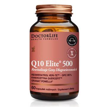 Doctor Life Q10 Elite 500 suplement diety rewitalizujący geny długowieczności (60 kapsułek)