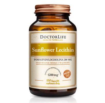 Doctor Life Sunflower Lecithin lecytyna słonecznikowa 1200mg suplement diety (100 kapsułek)