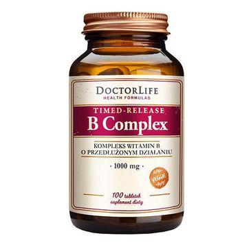 Doctor Life Timed-Relase B-Complex kompleks witamin B suplement diety 100 tabletek