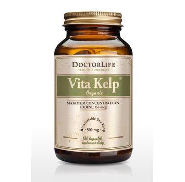 Doctor Life Vita Kelp Organic 500mg organiczny jod suplement diety 150 kapsułek