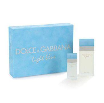 Dolce & Gabbana Light Blue Woman zestaw woda toaletowa spray 100ml + woda toaletowa 25ml (1 szt.)