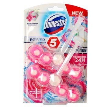 Domestos – Ocean DUO Kostka WC Power 5 Platinum koszyk - Fresh Rose & Jasmine (2 x 55 g)