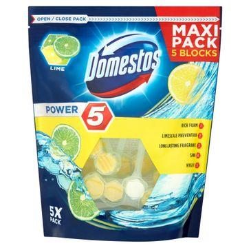 Domestos Power 5 kostka toaletowa lime 5 x 55 g