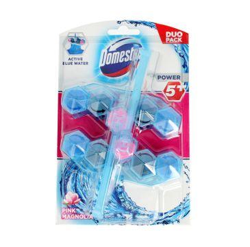 Domestos – Power 5 Kostka zapachowa do toalet Active Blue Water różowa Magnolia (2x53 g)