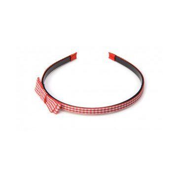 Donegal opaska do włosów czerwona z kokardką (FA-5106) 1 szt.
