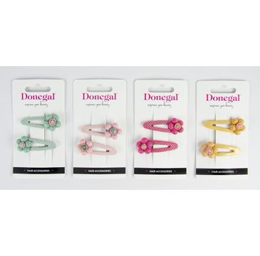 Donegal Spinki do włosów (5604) mix kolorów (1 op.)