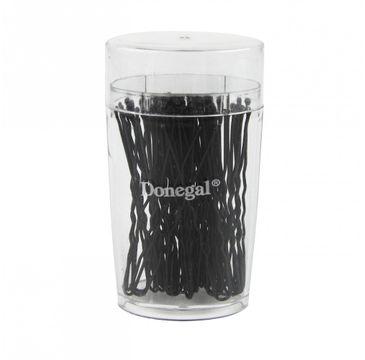 Donegal wsuwka do włosów kokówka czarna 6 cm (5088) 1 op.- 50 szt.