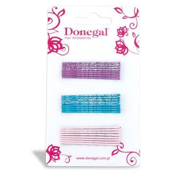 Donegal wsuwka do włosów wąska mix kolorów (FA-5505) 1 op. - 24 szt.