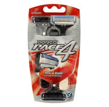 Dorco Pace 4 Maszynka jednorazowa męska - 4 ostrza 1 op.-3 szt.